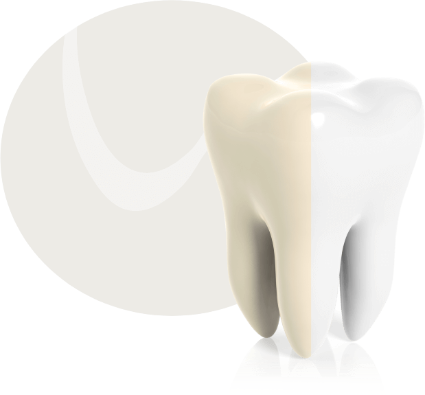bleaching um weiße Zähne zu bekommen