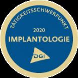 Implantologie Schwerpunkt Siegel 2020