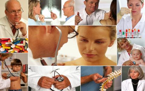 Collage - Medizin (Gesundheit)