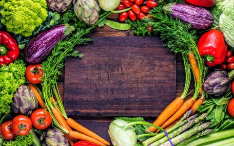 Frische Gemüse Hintergrund